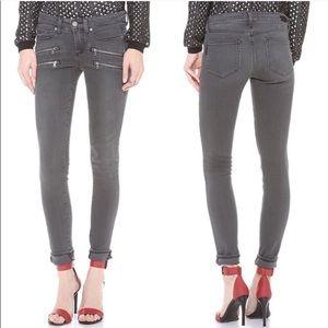 Paige Edgemont Watson Gray Skinny Jeans Moto Sz 30